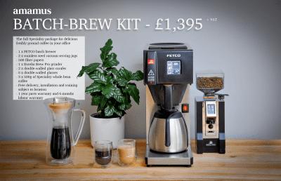 Batch brew filter coffee offer